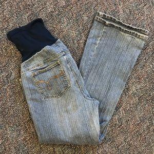 Petite large maternity jeans